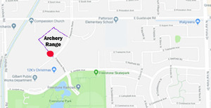 Map of Gilbert Archery Range Location