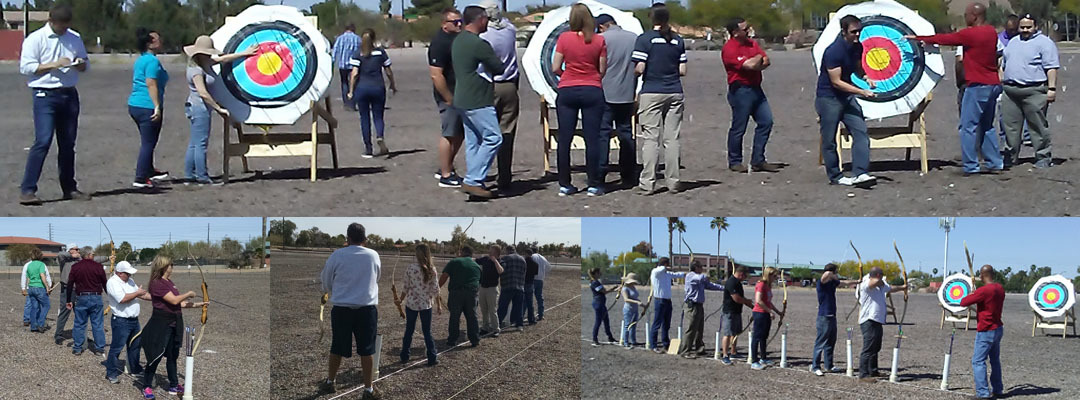 Gilbert Park and Rec Dept Archery Team Building Event